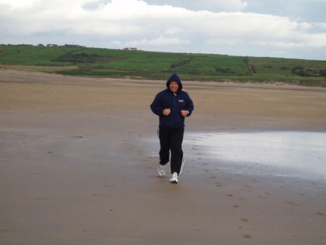 to jsem já na pláži v Tramore, jižní Irsko
